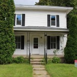 Duplex house for rent, plainwell, michigan - plainwell schools - front of house