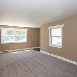 living room view in house for rent in battle creek michigan